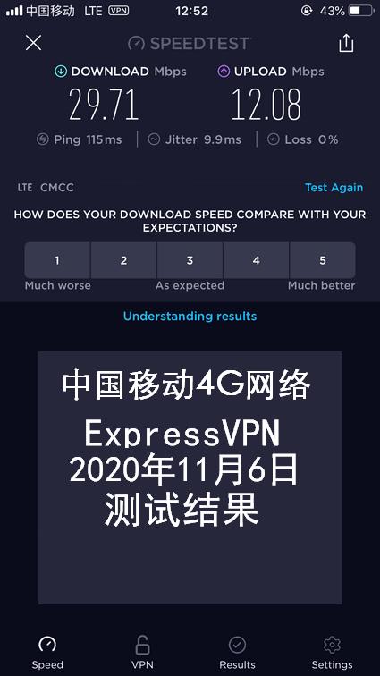 iPhone ExpressVPN节点测速